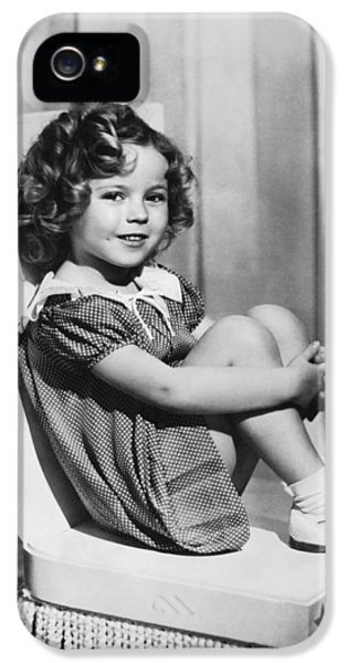 Actress Shirley Temple IPhone 5 Case by Underwood Archives