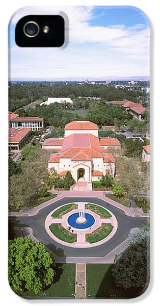 Aerial View Of Stanford University IPhone 5 Case by Panoramic Images