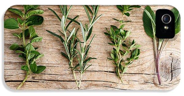 Assorted Fresh Herbs IPhone 5 Case by Nailia Schwarz