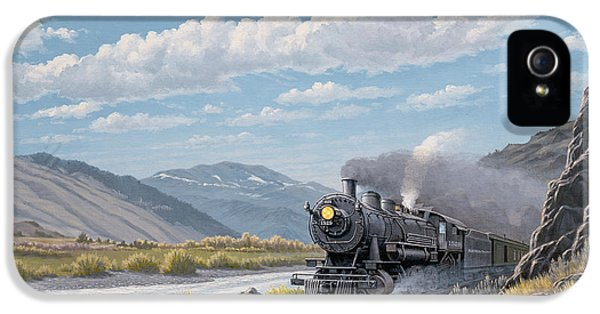 Train iPhone 5 Case - At Point Of Rocks-bound For Livingston by Paul Krapf