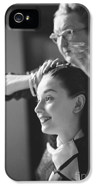 Audrey Hepburn Preparing For A Scene In Roman Holiday IPhone 5 Case by The Harrington Collection