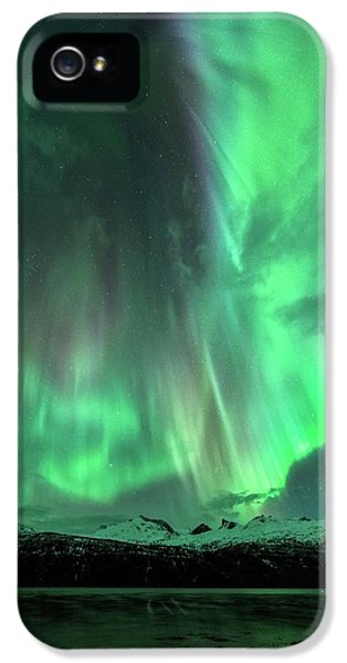 Aurora Borealis During Geomagnetic Storm IPhone 5 Case by Tommy Eliassen