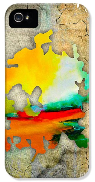 Austin Map Watercolor IPhone 5 Case