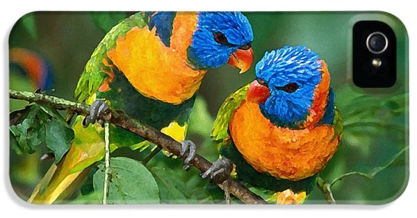 Baby Birds  IPhone 5 Case by Marvin Blaine