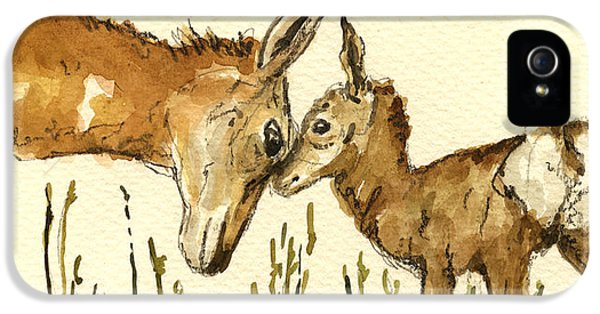 Bambi Deer IPhone 5 Case by Juan  Bosco