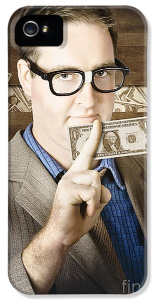 Banking Business Man With American Money IPhone 5 Case by Jorgo Photography - Wall Art Gallery