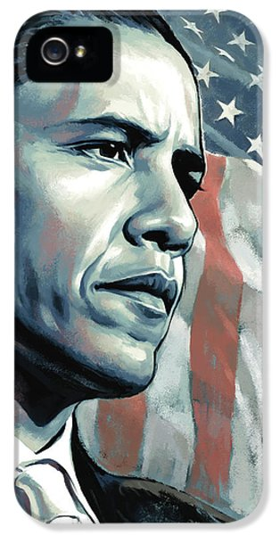 Barack Obama Artwork 2 IPhone 5 Case by Sheraz A