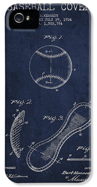 Baseball Cover Patent Drawing From 1924 IPhone 5 Case by Aged Pixel