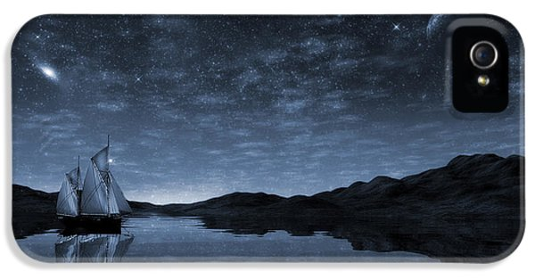 Beneath A Jewelled Sky IPhone 5 Case by John Edwards