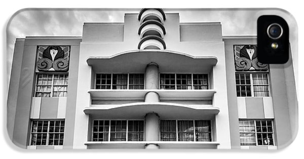 Berkeley Shores Hotel  2 - South Beach - Miami - Florida - Black And White IPhone 5 Case