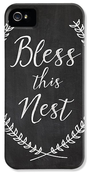 Bless This Nest IPhone 5 Case by Natalie Skywalker