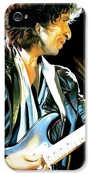 Bob Dylan Artwork 2 IPhone 5 Case by Sheraz A