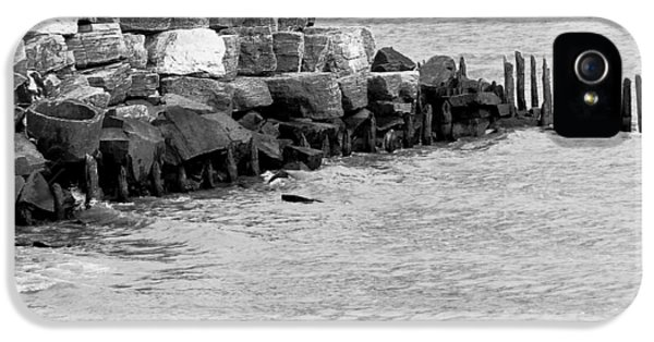 IPhone 5 Case featuring the photograph Breakwater by Ricky L Jones