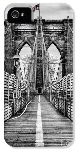Brooklyn Bridge IPhone 5 Case by John Farnan