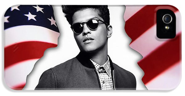 Bruno Mars IPhone 5 Case by Marvin Blaine