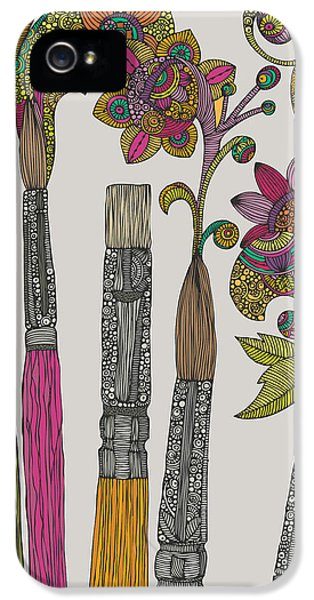 Brushes IPhone 5 Case by Valentina