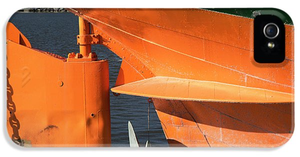 Cargo Ship Rudder IPhone 5 Case by Jim West