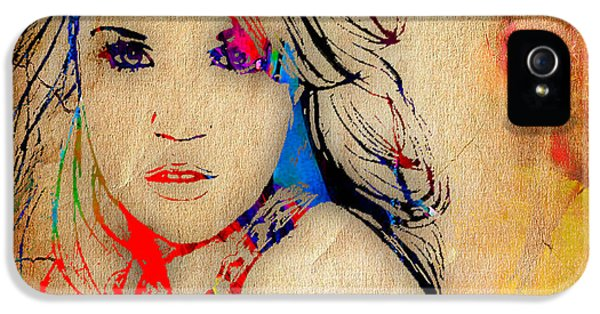 Carrie Underwood Painting. IPhone 5 Case