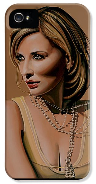 Elf iPhone 5 Case - Cate Blanchett Painting  by Paul Meijering