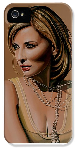 Cate Blanchett Painting  IPhone 5 Case