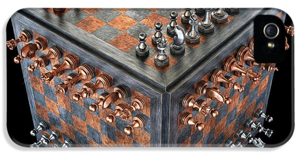 Chess Board In A Cube Shape IPhone 5 Case