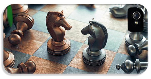 Chess Pieces On Chess Board IPhone 5 Case