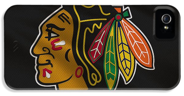 Chicago Blackhawks Uniform IPhone 5 Case by Joe Hamilton