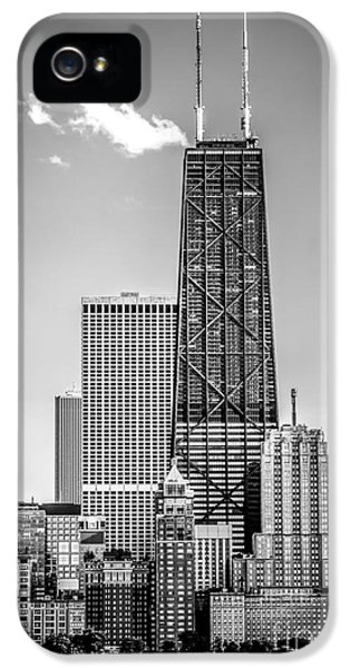 Hancock Building iPhone 5 Case - Chicago Hancock Building Black And White Picture by Paul Velgos