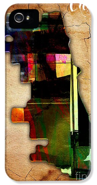Chicago Map Watercolor IPhone 5 Case by Marvin Blaine