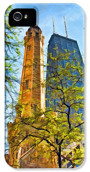 Chicago Water And Hancock Towers IPhone 5 Case by Christopher Arndt