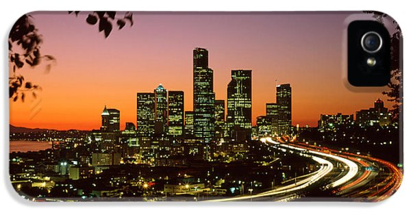City Of Seattle Skyline IPhone 5 / 5s Case by King Wu