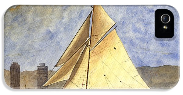 Classic Yacht Barcelona IPhone 5 Case by Juan  Bosco