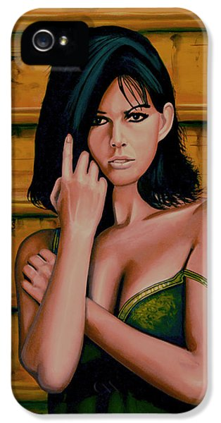 Claudia Cardinale Painting IPhone 5 Case by Paul Meijering