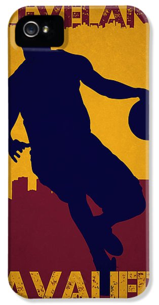 Cleveland Cavaliers Lebron James IPhone 5 / 5s Case by Joe Hamilton