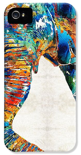 Colorful Elephant Art By Sharon Cummings IPhone 5 Case