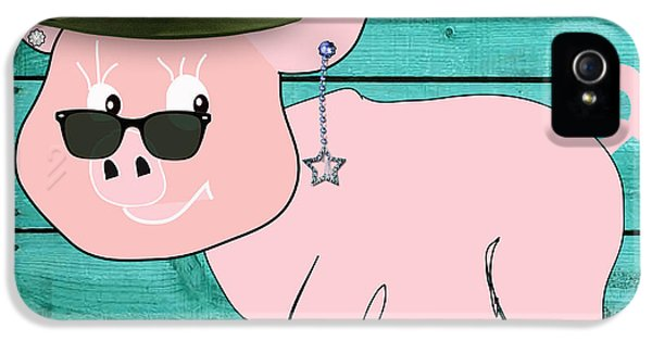 Cool Pig Collection IPhone 5 Case by Marvin Blaine