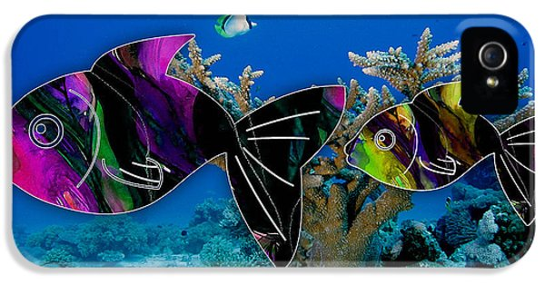 Coral Reef Painting IPhone 5 / 5s Case by Marvin Blaine