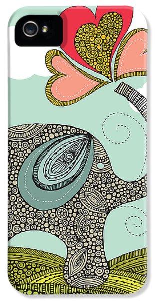 Cute Elephant IPhone 5 Case by Valentina Ramos