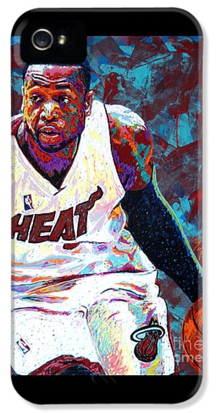D. Wade IPhone 5 Case by Maria Arango