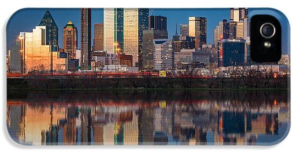 Dallas iPhone 5 Case - Dallas Skyline by Mihai Andritoiu