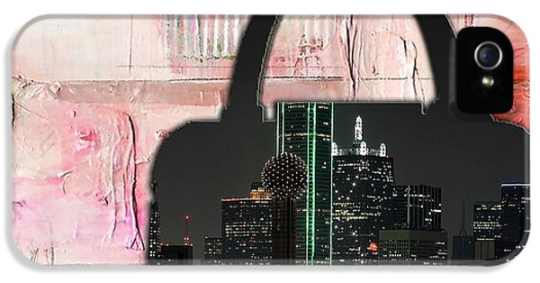 Dallas Texas Skyline In A Purse IPhone 5 Case by Marvin Blaine