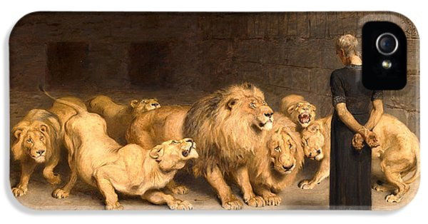 Dungeon iPhone 5 Case - Daniel In The Lions' Den by Briton Riviere