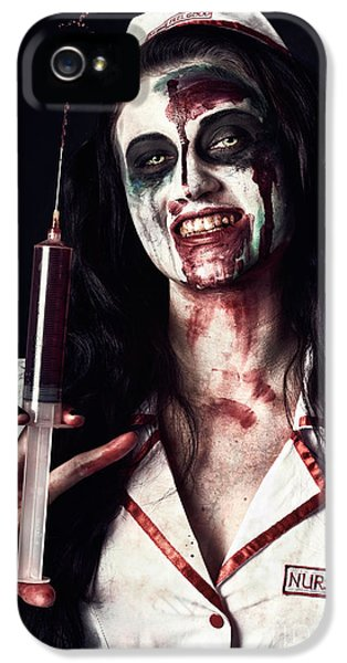 Dead Nurse Taking Blood Donation With Syringe IPhone 5 Case by Jorgo Photography - Wall Art Gallery