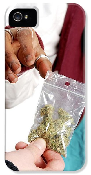 Dealing In Cannabis IPhone 5 Case by Aj Photo