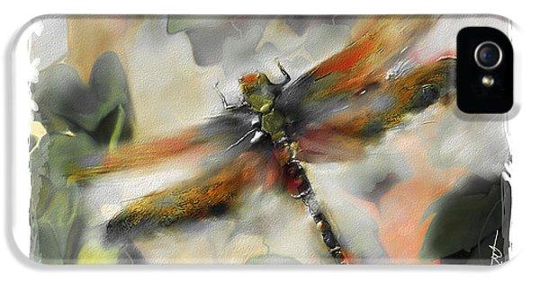 Impressionism iPhone 5 Case - Dragonfly Garden by Bob Salo
