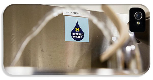 Drinking Water Filtration Sign IPhone 5 Case by Jim West