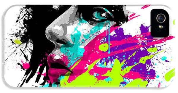 Face Paint 2 IPhone 5 Case by Jeremy Scott