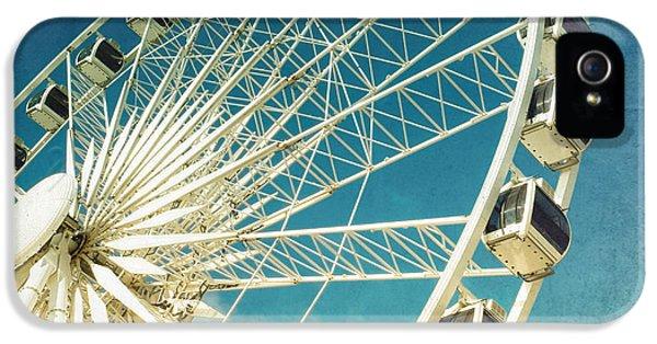 Day iPhone 5 Case - Ferris Wheel Retro by Jane Rix