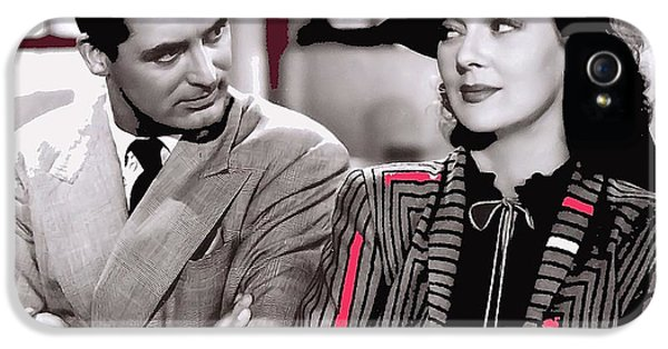 Film Homage Cary Grant Rosalind Russell Howard Hawks His Girl Friday 1940-2008 IPhone 5 / 5s Case by David Lee Guss