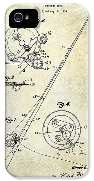 Fishing Reel Patent 1939 IPhone 5 Case